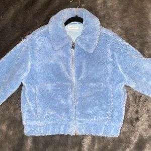 Urban outfitters blue sherpa jacket